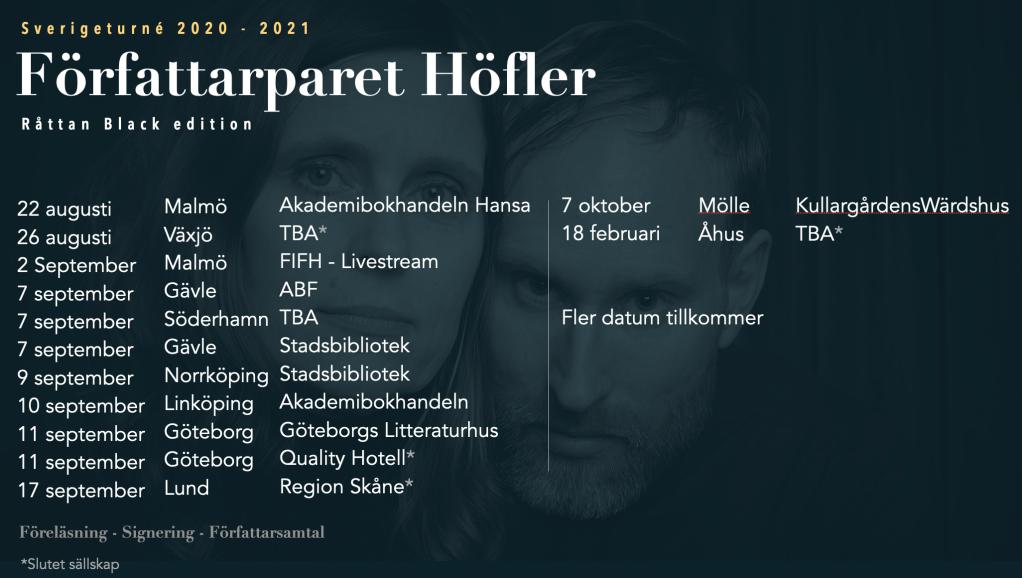 Författarparet Höfler - Sverigeturné 2020-2021