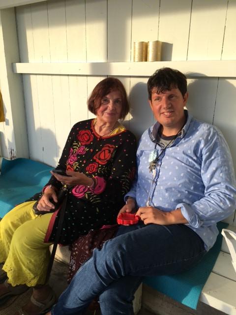 Gitta Magnell med sonen Teo (som hon berättar om i <i>MInnet av hennes sanslösa levnad</i>)