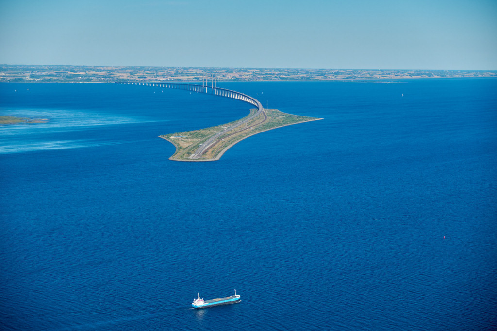 The Oresund Bridge in Denmark