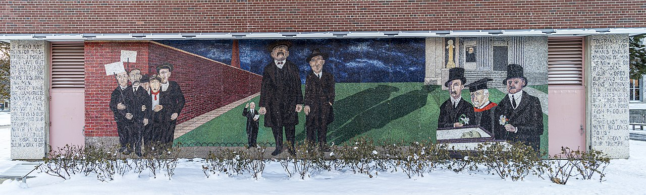 Full view of the Ben Shahn Mural at Syracuse University